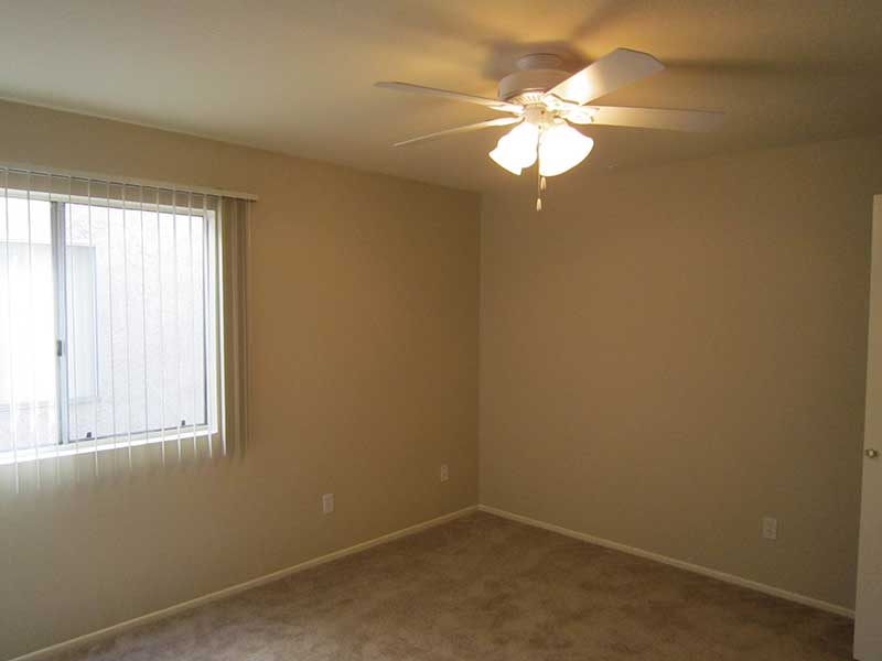 Bedroom with Wall to Wall Carpet